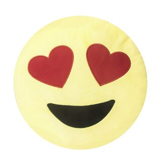 Soft Plush Emoji Throw Pillow