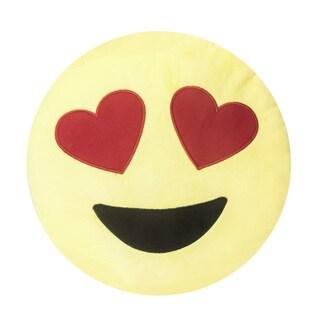 Soft Plush Emoji Throw Pillow