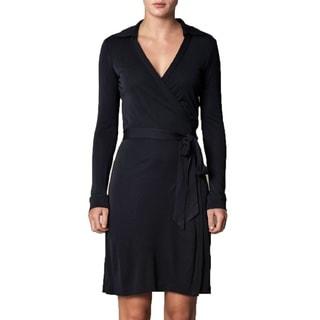 Diane von Furstenberg Jeanne Black Wrap Dress