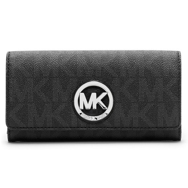 e328c08ce4b3 Michael Kors Black Wallet With Silver   Stanford Center for ...