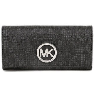 Michael Kors Fulton Black/ Silver Carryall Wallet