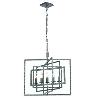 Crystorama Capri Collection 5-light Raw Steel Chandelier