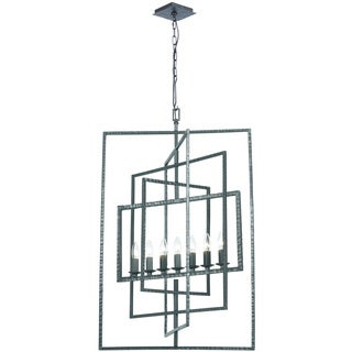 Crystorama Capri Collection 7-light Raw Steel Chandelier