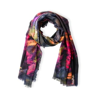 Handmade Saachi Women's Watercolor Sunset Scarf Multi (China)
