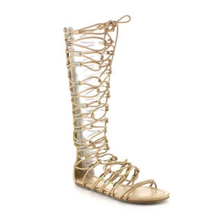 Beston Db02 Women's Knee High Gladiator Sandals
