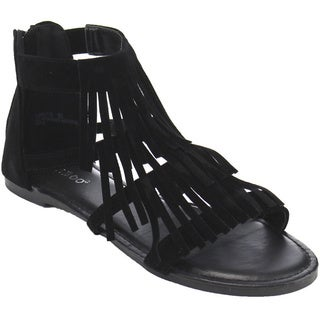 Bamboo Dino-71s Women's Flat Fringe Sandals
