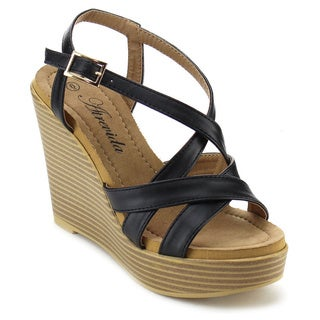 Atrevida Shakia-13 Women's Strappy Wedge Sandals