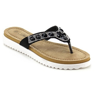 Atrevida Perah-03 Women's Rhinestone Thong Sandals