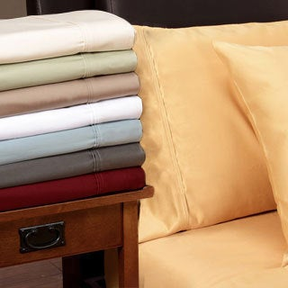 Luxor Treasures Egyptian Cotton 1200 Thread Count Solid Deep Pocket Sheet Set King Size in Ivory (As Is Item)