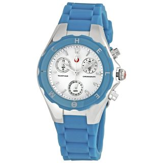 Michele Women's MWW12D000004 'Tahitian Jelly Bean' Chronograph Blue Silicone Watch