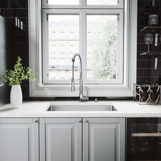 VIGO All-in-One 30-inch Stainless Steel Undermount Kitchen Sink and Laurelton Chrome Faucet Set