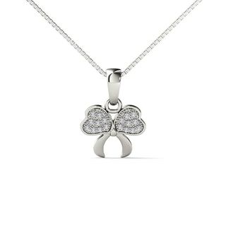 10k White Gold Diamond Accent Fashion Pendant Necklace
