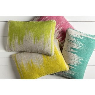 Decorative Hana Poly or Feather Down Filled Throw Pillow (22 X 14)