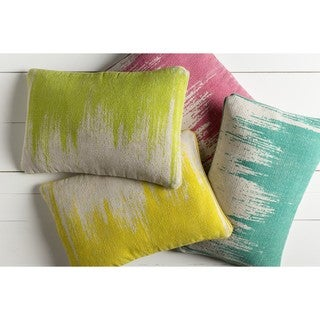 Decorative Hana Poly or Down Filled Throw Pillow (22 X 14)