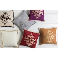 Decorative East 22-inch Poly or Down Filled Throw Pillow