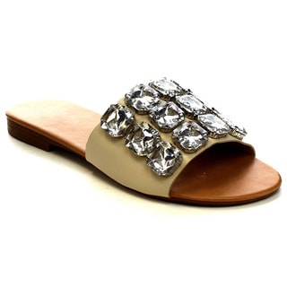 Beston Ea65 Women's Jewel Slide Flat Sandals