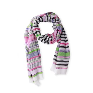 Saachi Women's Multi Pattern Stripe Scarf (China)