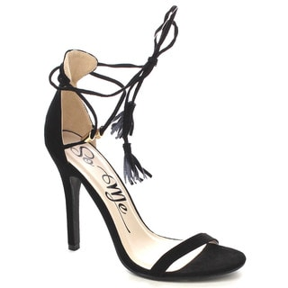 Beston Fb05 Women's Stiletto Tassel Tie Heels