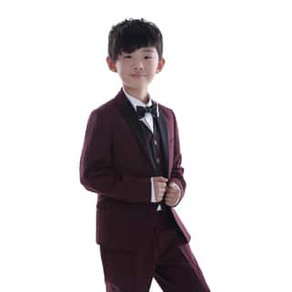 Burgundy 3-piece Suit with Black Trim for Kids 4 - 14 Years https://ak1.ostkcdn.com/images/products/11441654/P18401824.jpg?impolicy=medium