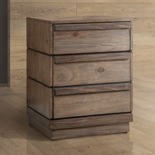Furniture of America Emallson Rustic Natural Tone 3-drawer Nightstand