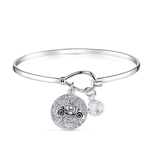 2ce138503274 Shop Disney Silverplated Brass and Crystal Cinderella Bracelet ...
