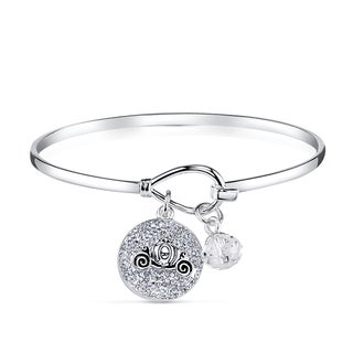 Disney Silverplated Brass and Crystal Cinderella Bracelet