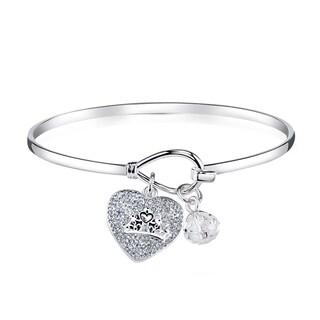 Disney Silverplated Brass and Crystal Cinderella Bracelet