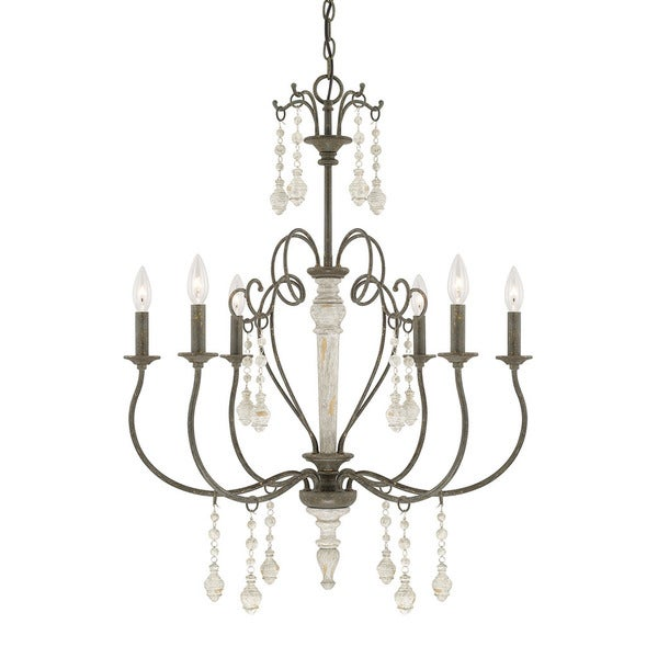 Sofia Collection 6 Light French Country Chandelier