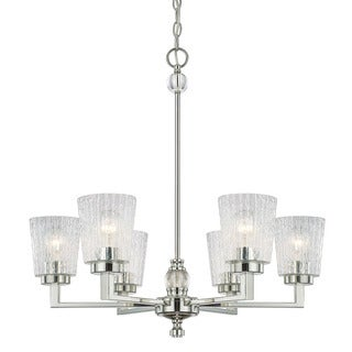 Austin Allen & Company Ava Collection 6-light Polished Nickel Chandelier
