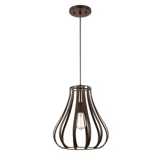 Austin Allen & Company Traditional 1-light Burnished Bronze Pendant