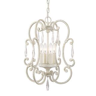 White mini chandeliers for less overstock austin allen company chloe collection 4 light french white mini chandelier aloadofball Image collections