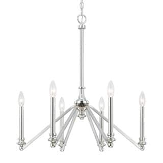 Chandeliers Austin Austin allen company chandeliers for less overstock austin allen company dylan collection 6 light polished nickel chandelier audiocablefo
