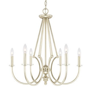 Austin Allen & Company Harper Collection 6-light Winter Gold Chandelier