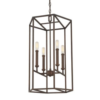 Austin Allen & Company Transitional 4-light Burnished Bronze Foyer Fixture