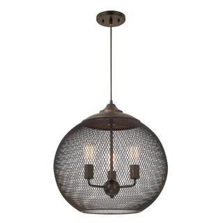 Austin Allen & Company Traditional 4-light Burnished Bronze Pendant