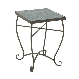 Gorgeous Metal Turquoise Mosaic Side Table