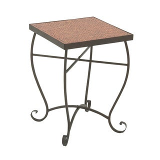 Classy Metal Red Mosaic Side Table