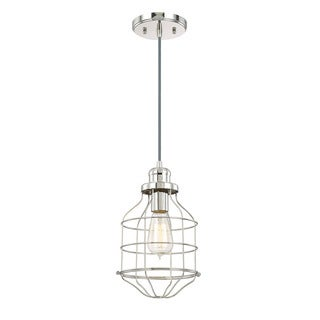 Austin Allen & Company Urban 1-light Polished Nickel Pendant