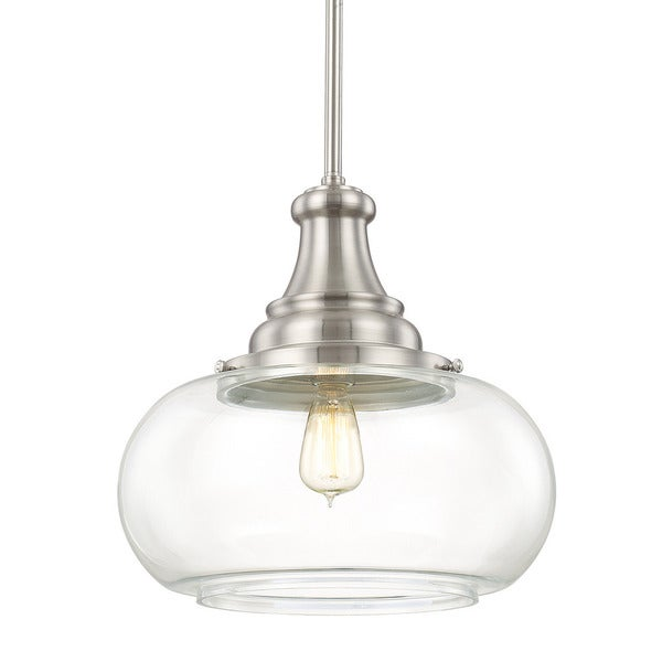 Urban 1 Light Brushed Nickel Pendant