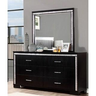Furniture of America Gailen Contemporary 2-piece Black Dresser and Mirror Set