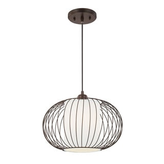 Austin Allen & Company Transitional 1-light Burnished Bronze Pendant