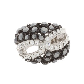NEXTE Jewelry Base Metal Rhinestone Encrusted Masquerade Mask Fashion Ring - Silver (3 options available)