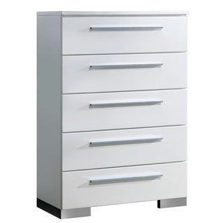 Furniture of America Rema Contemporary White 5-drawer Chest