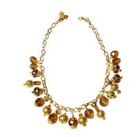 NEXTE Jewelry Gold over Brass South African Tswana Beaded Necklace
