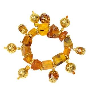 NEXTE Jewelry Brass South African Tswana Beaded Bracelet
