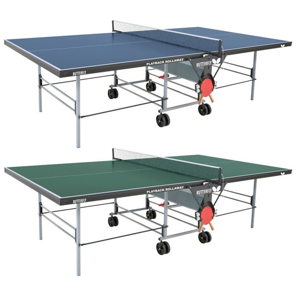 Butterfly Playback Rollaway Table Tennis Ping Pong Table with Net Set - 3 Year Warranty - Accessory Holder