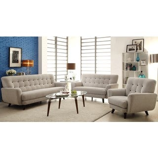 Halley Engage Contemporary Mid-Century Light Grey Sofa Collection