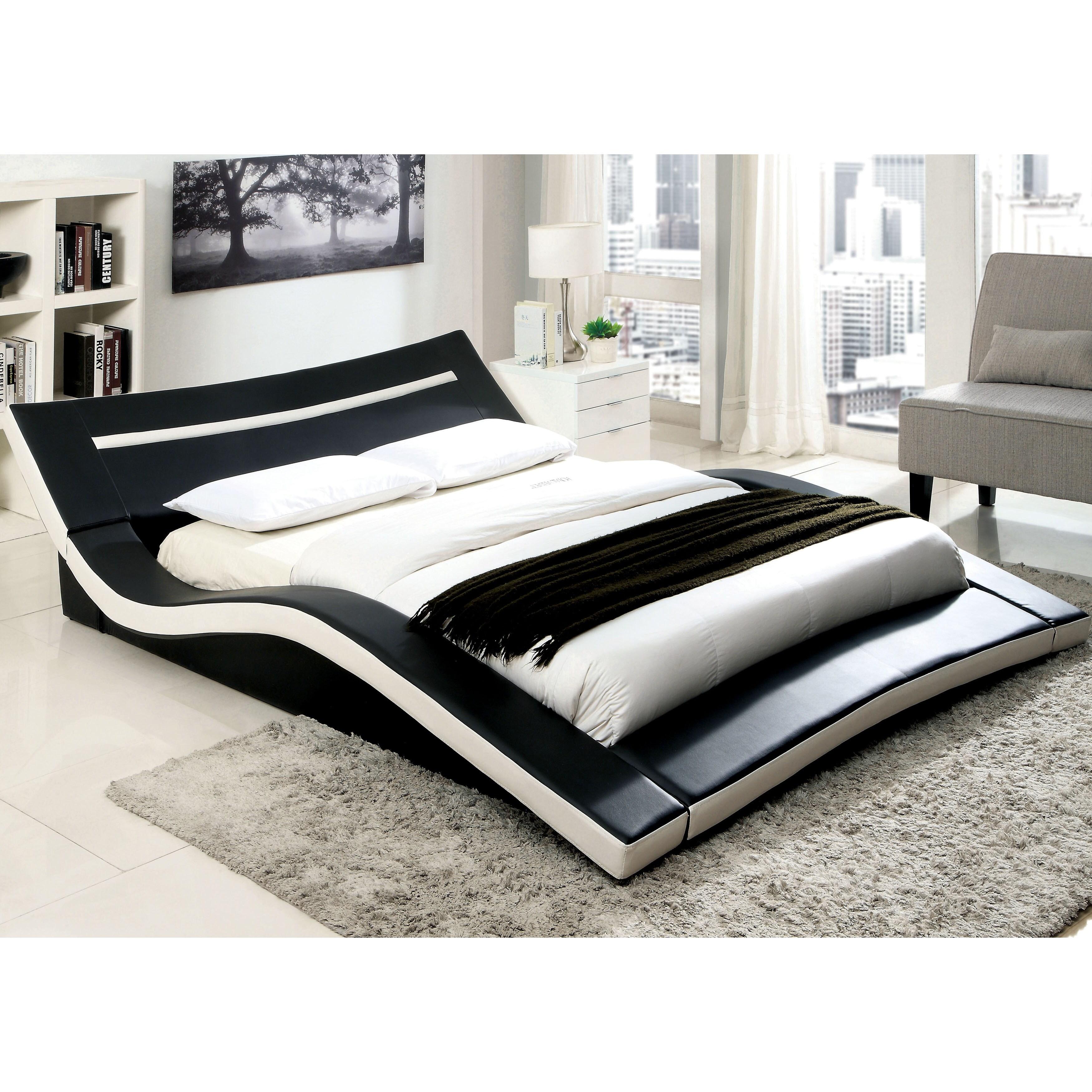 Blaires Modern Black Low Profile Platform Bed By Foa