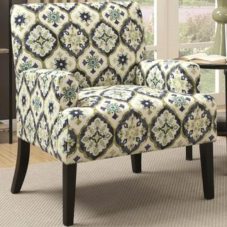 Florence Chateau Designer Patterned Fabric Accent Chair