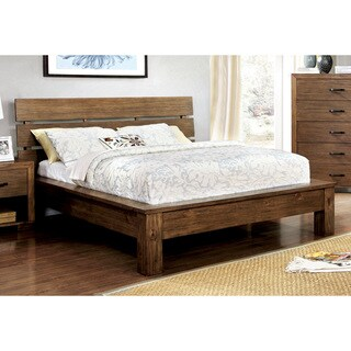 Furniture of America Marchen Rustic Plank Style Platform Bed